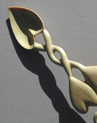 A near translucent spoon bowl